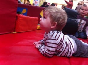 """Age 9 Months """"What is this place?"""""""