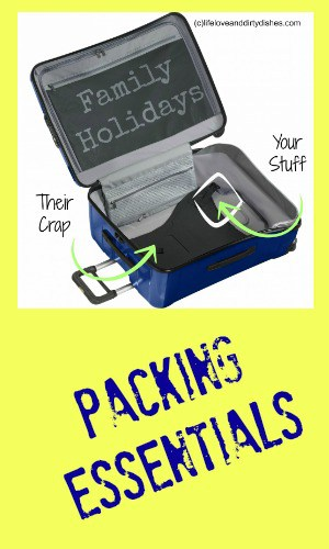 What do you need to pack for a family holiday? What are the essential items to bring when going away?