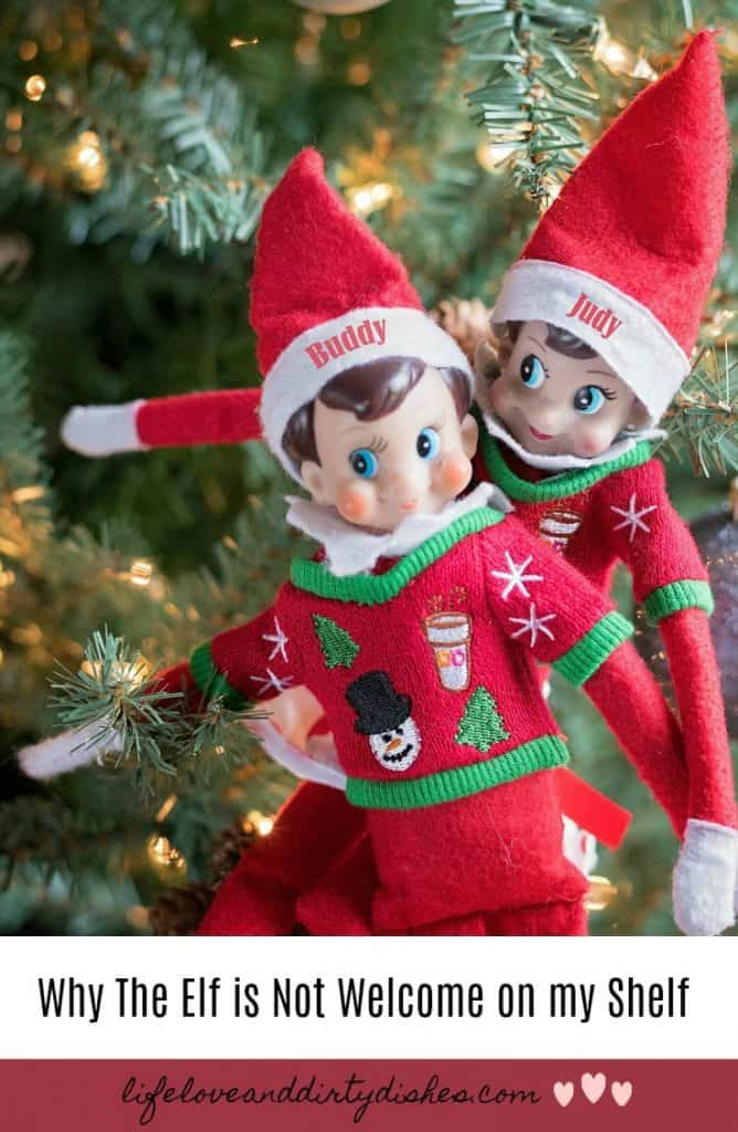 You won't find any elf on the shelf ideas here. This is why we don't do elf on the shelf. And i'm not a humbug!