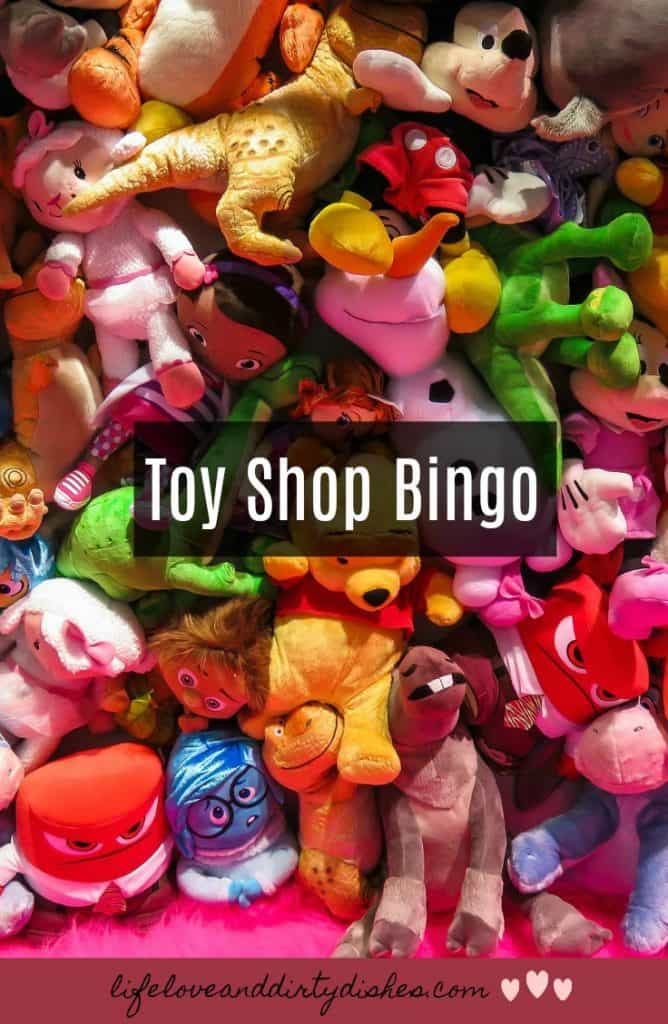 if you are going christmas shopping with the children in tow, you might be up for a game of toy shop bingo