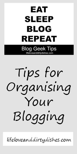 Organising Your Blog