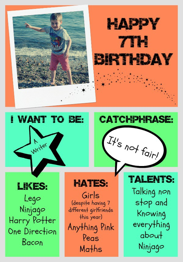 An infographic about being six