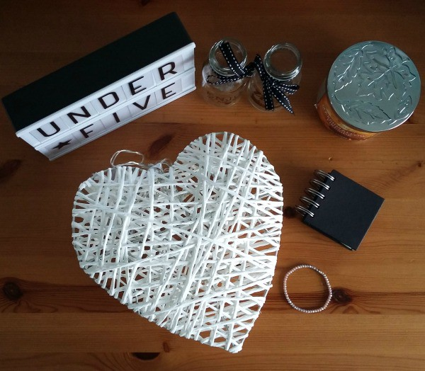 Flatlay image of five things under £5