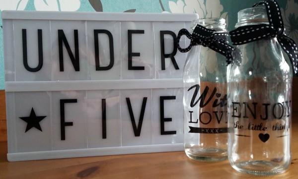 Bottles from poundland for fiver under £5