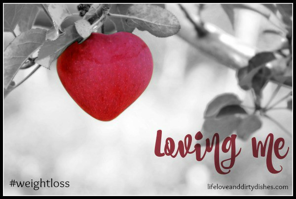 Loving me: Image of a heart.