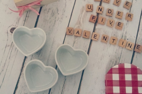 five under £5 valentines heart ramekins