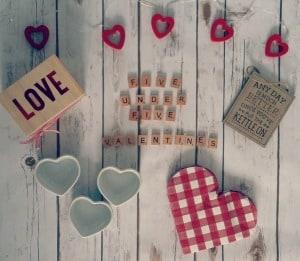 five under £5 valentines