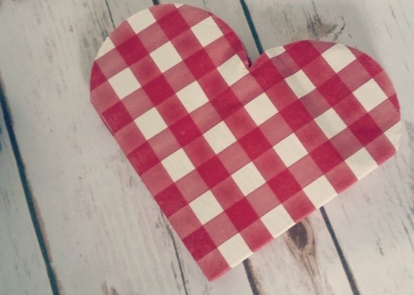 five under £5 valentines napkins