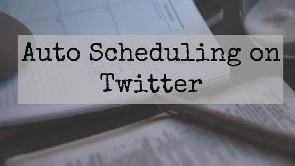 Auto scheduling on twitter image of a diary