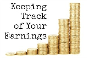 Keeping track of your earnings image of pound coins in stacks