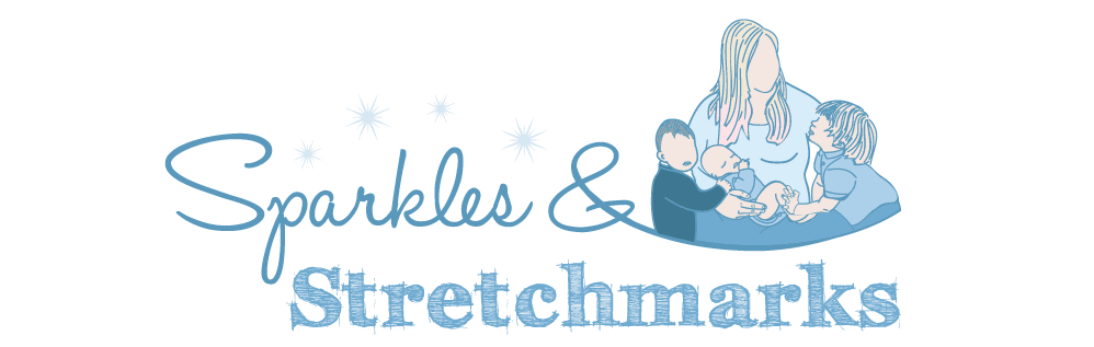 Sparkles and Stretchmarks logo for blog love