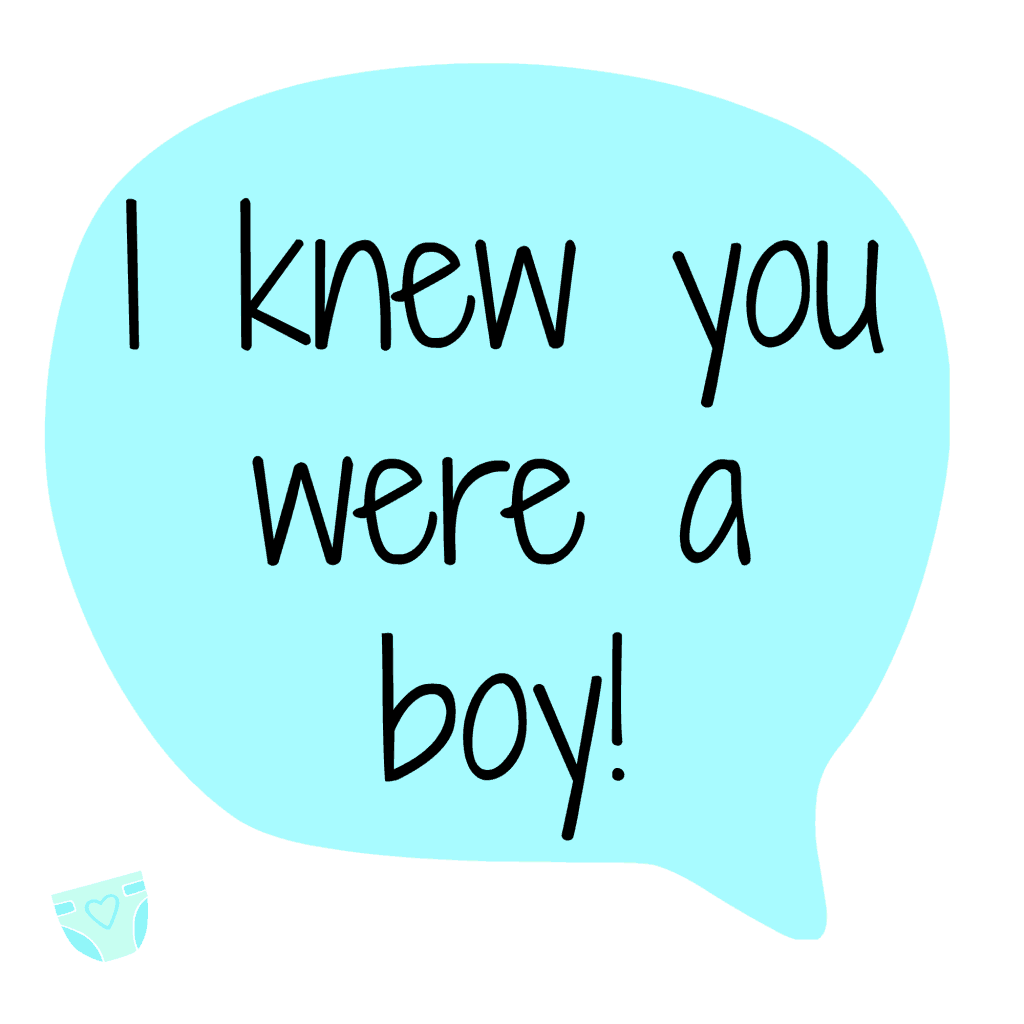 First Thoughts After Giving Birth - I Knew You Were A Boy