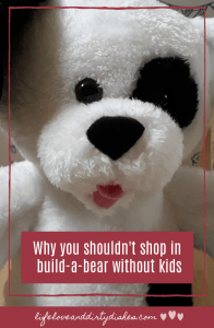 what happens when you shop in build-a-bear workshop without a child in tow #parenting #humour