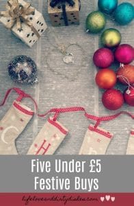 Five under £5 bargain buys for Christmas. Check out these beautiful and affordable decorations from next and B&M stores. Some great festive finds