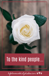 To the kind people, the ones who help, the ones who don't judge, the ones who make our lives a bit easier and can turn our day around.  The kindness of strangers is a beautiful thing.