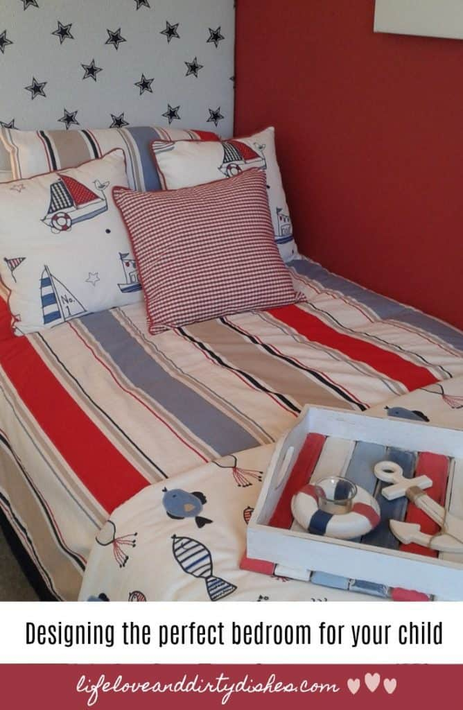 Decorate the perfect befroom for your child, with these handy tips about colur, upcycling and storage.  Create a bedroom your kids will love.