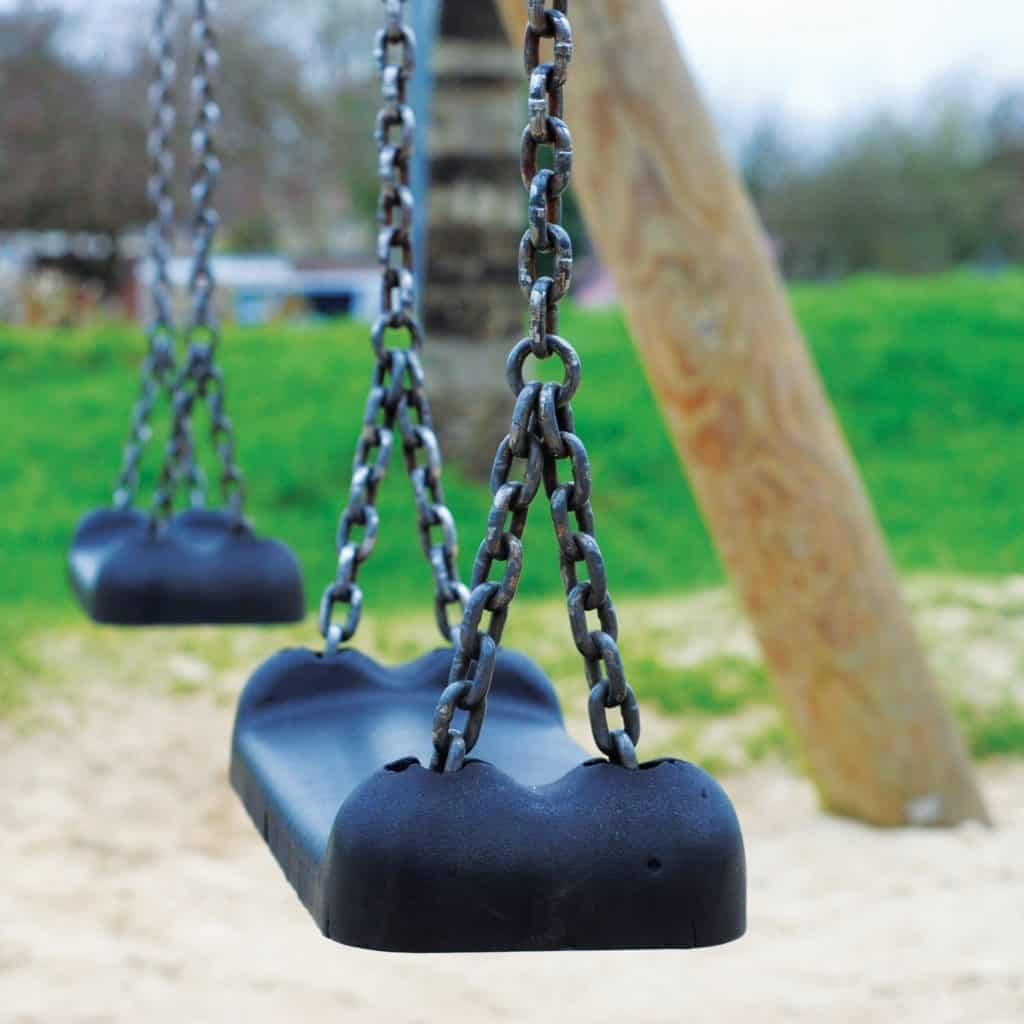 I hate the park image of some swings at the park