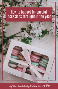 How to budget for special occasions throughout the year. #finances #planning