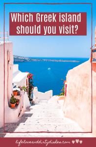 Which Greek island should you visit?  Santoroni, Naxos, Mykonos, Crete or Antiparos.  greece has something to offer everyone. #travel
