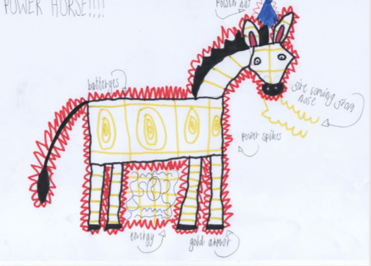 child's drawing of a horse for Petplan Equine
