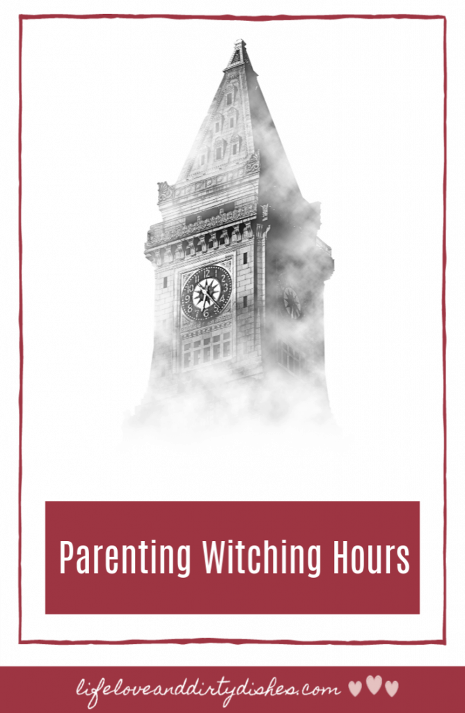we've all heard of the witching hour at bedtime.  But did you know there are loads of witching hours parents have to skilfully make their way through. #humour #parenting