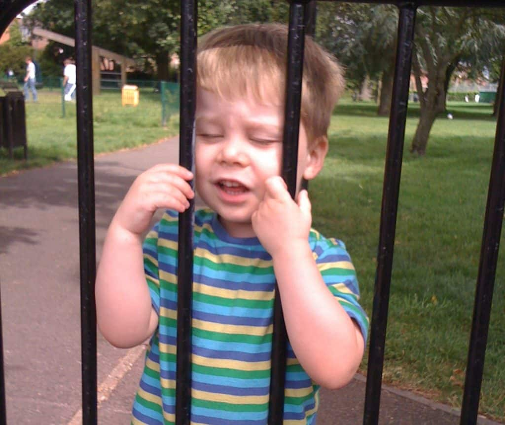toddlers are petty criminals image of toddler behind bars