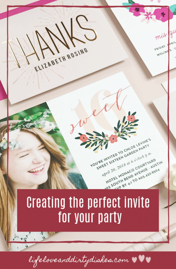 Create the perfect invite to your party.  Guests will be queuing up for an invitation to your party with these stylish designs and personlisation.