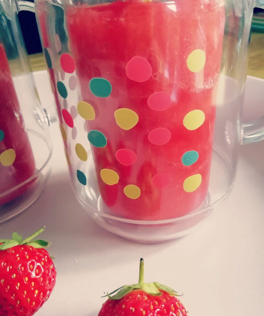 strawberry daquari mocktail