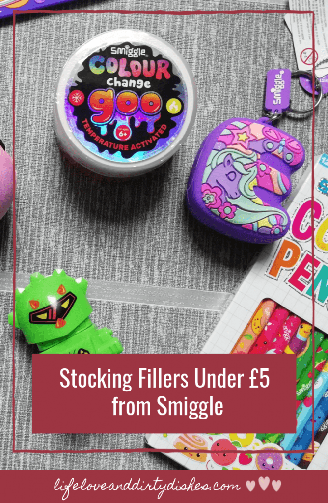 stocking fillers from Smiggle all under £5.  Christmas shopping on a budget, great gifts for kids