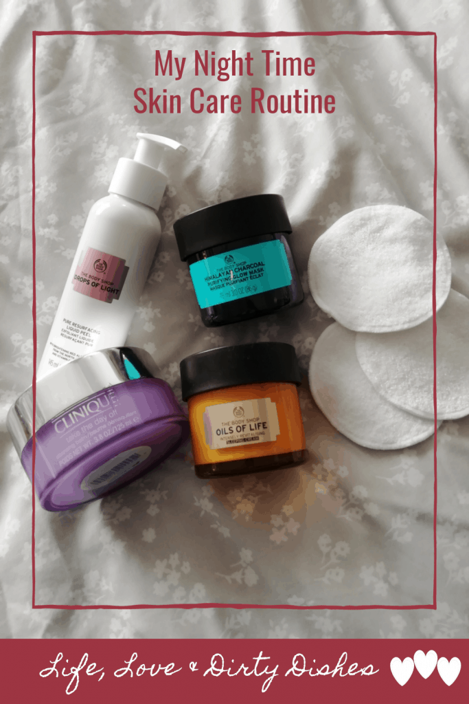 My night time skin care routine