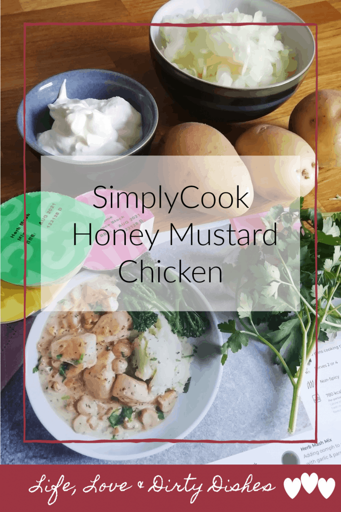 Creamy honey and mustard chicken recipe kit from SimplyCook